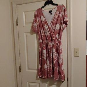 Soft, floral 2x plus size dress